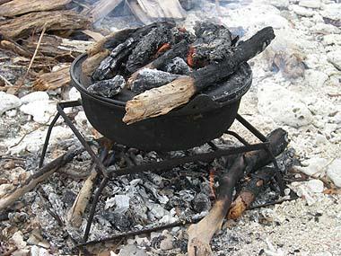 090720焚き火と鍋