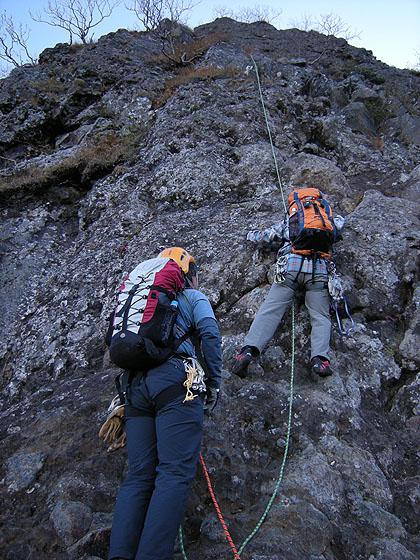 091004第一岩壁登攀