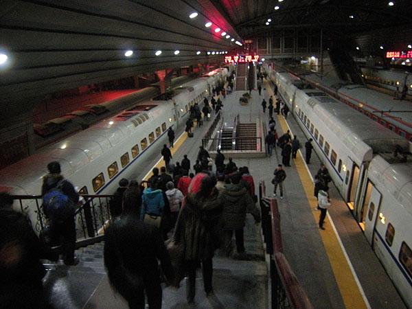 091226北京駅ホーム