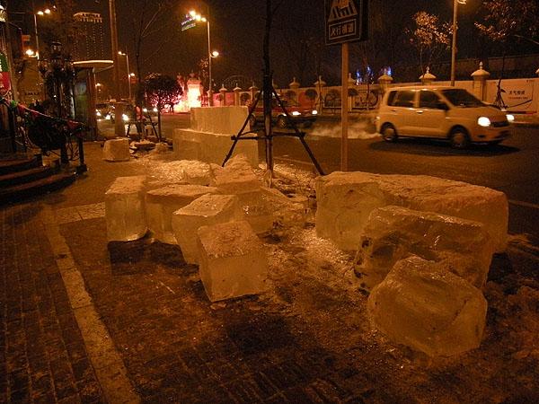 091227ハルピン歩道の氷
