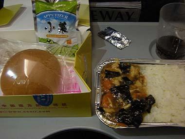 091231北京行き機内食