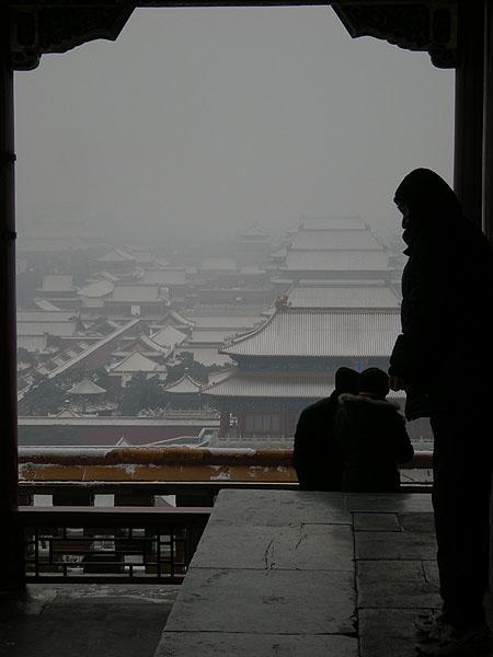 100102北京景山公園から故宮2