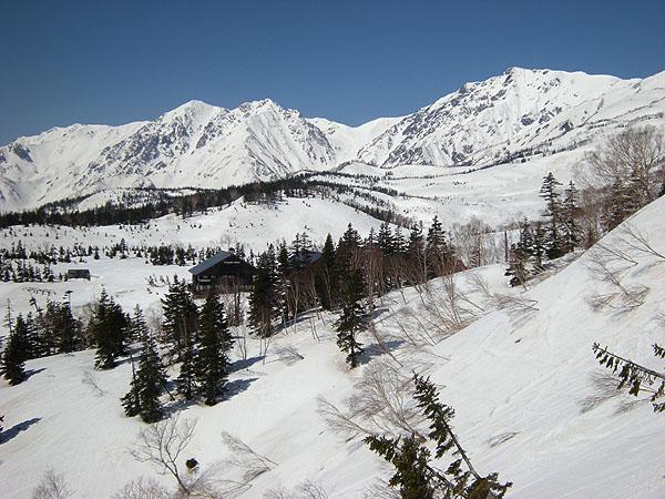 100423栂池から白馬岳