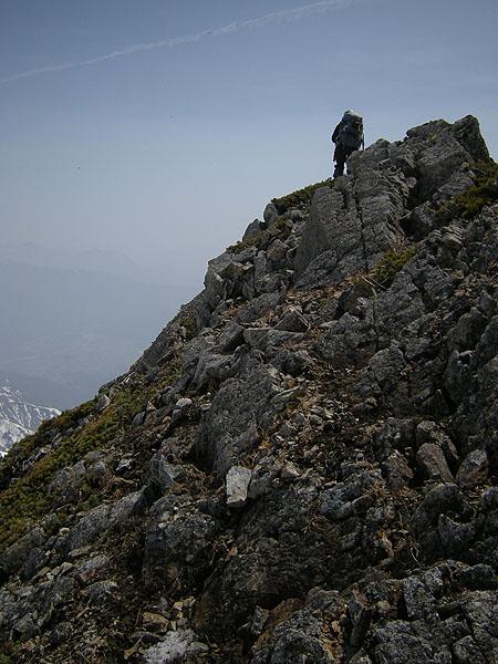 100505五竜岳G1下山