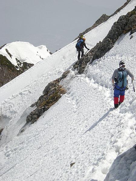 100505五竜岳山頂直下トラバース