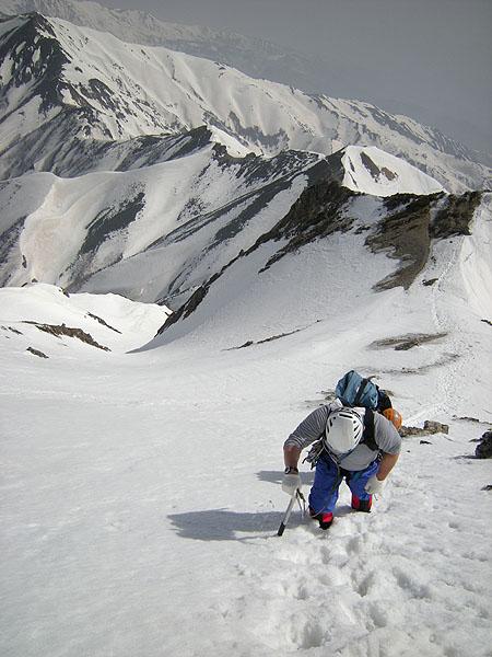 100505五竜岳山頂直下