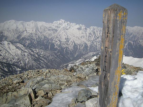 100505五竜岳山頂から剱岳