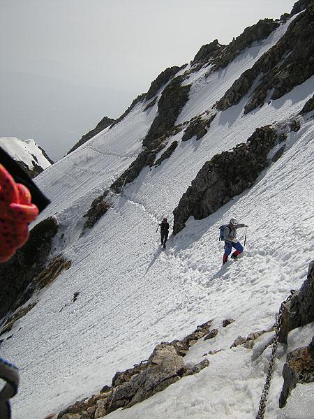 100505五竜岳ルンゼのトラバース