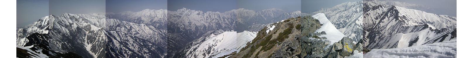 100505五竜岳山頂からの展望