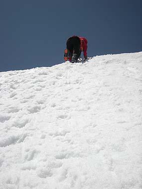 100516針ノ木岳手前の雪壁