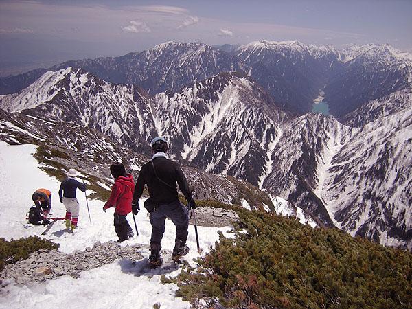 100516山頂から下山