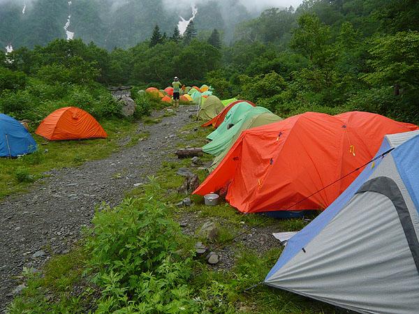 100717雨のお池小屋キャンプ場