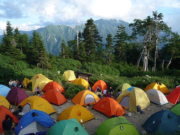 100807西穂高岳キャンプ場