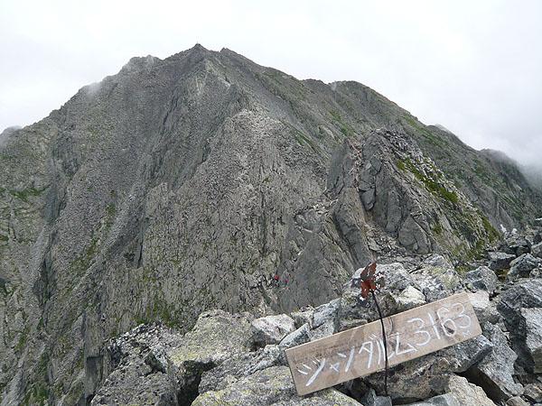 100808奥穂西穂・ジャンダルム山頂
