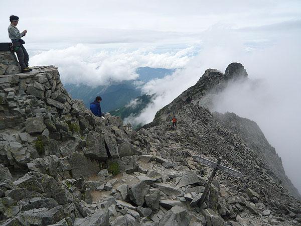 100808奥穂高岳山頂