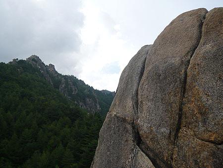 100828小川山スラブ上岩壁の頭