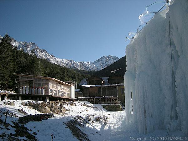 101219午後の赤岳鉱泉
