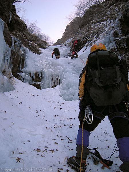 101219裏同心ルンゼのナメ滝