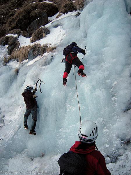 101219裏同心ルンゼ最初の滝