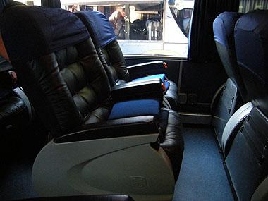 101227リオガジェゴスに向かうバスのシート
