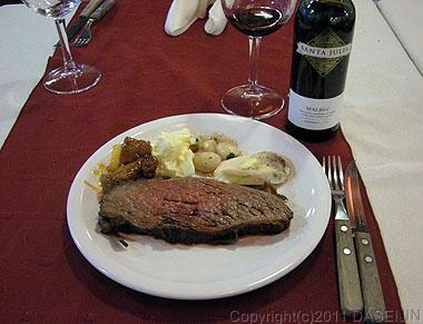 110106フエゴ島・ウスアイア、レストランArcoIrisの食事