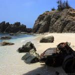 潮が引き道が現れる蓬莱海岸~小笠原諸島の旅(8)