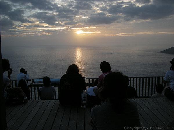 110505小笠原父島・三日月山展望台の夕日