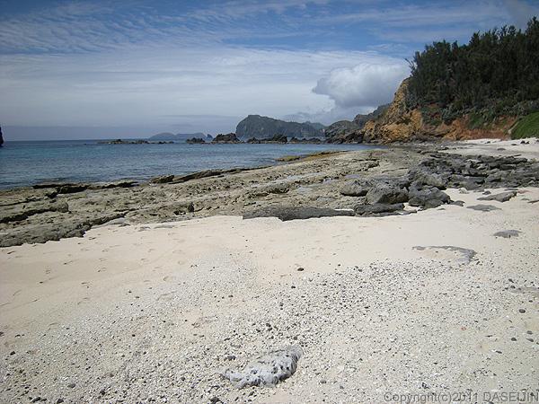 110506小笠原父島・ジョンビーチサンゴ砂の浜