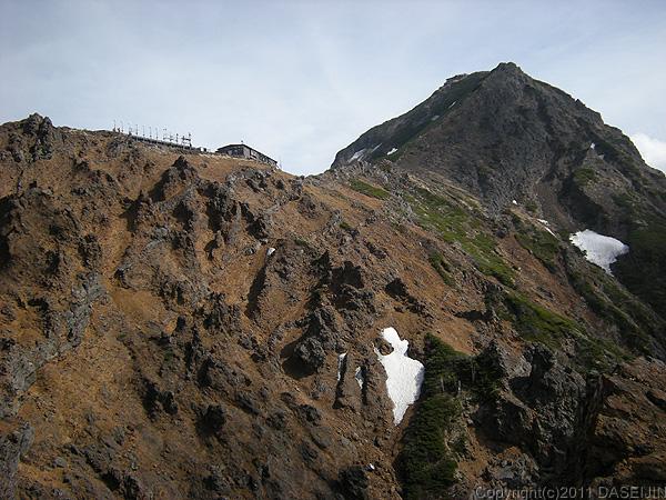 110604八ヶ岳地蔵尾根から展望荘、赤岳