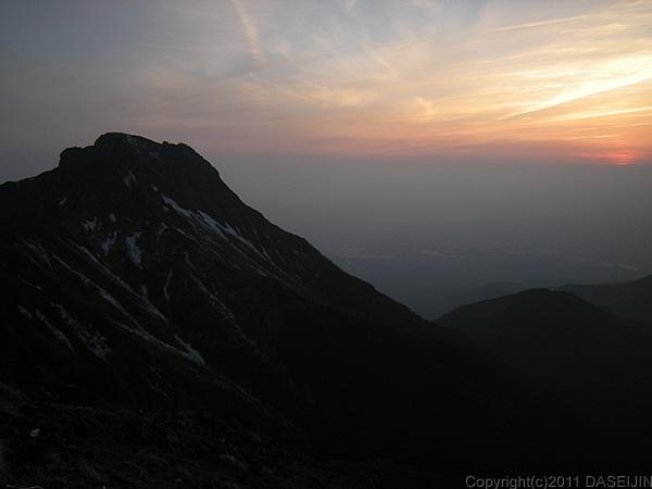 110604八ヶ岳天望荘から夕暮れ