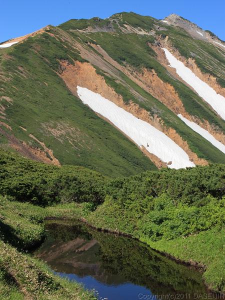 110717間山池と北薬師岳