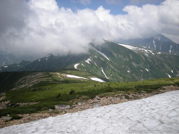 110717越中沢岳から五色ヶ原方面