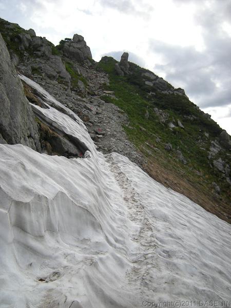 110718鬼岳の雪渓