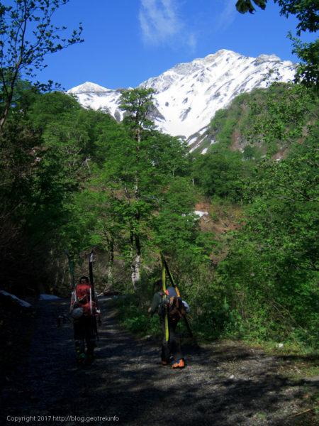 170602 白馬尻までは夏道を歩く