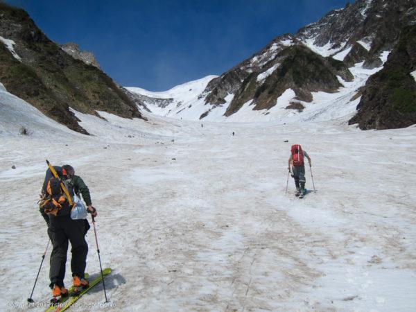 170603 白馬大雪渓を登る