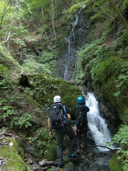 170827真名井沢、支流の滝