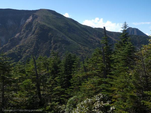 170924みかぶり山から硫黄岳を振り返る
