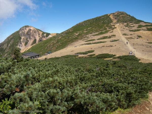 170924根石山荘と根石岳