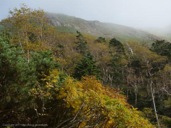 170924硫黄岳への登り