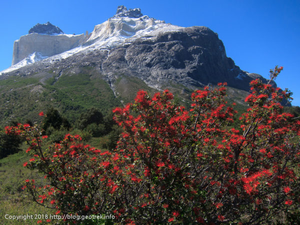 171117パイネグランデ山の反対側の山