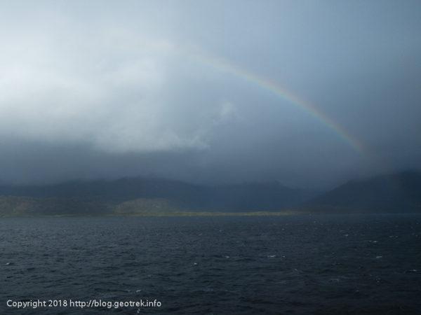 171121 デッキから虹を見る