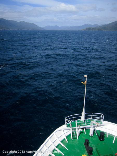 171123 外洋から再びフィヨルドのチャネル