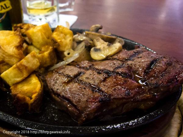 171125 夕食のステーキ