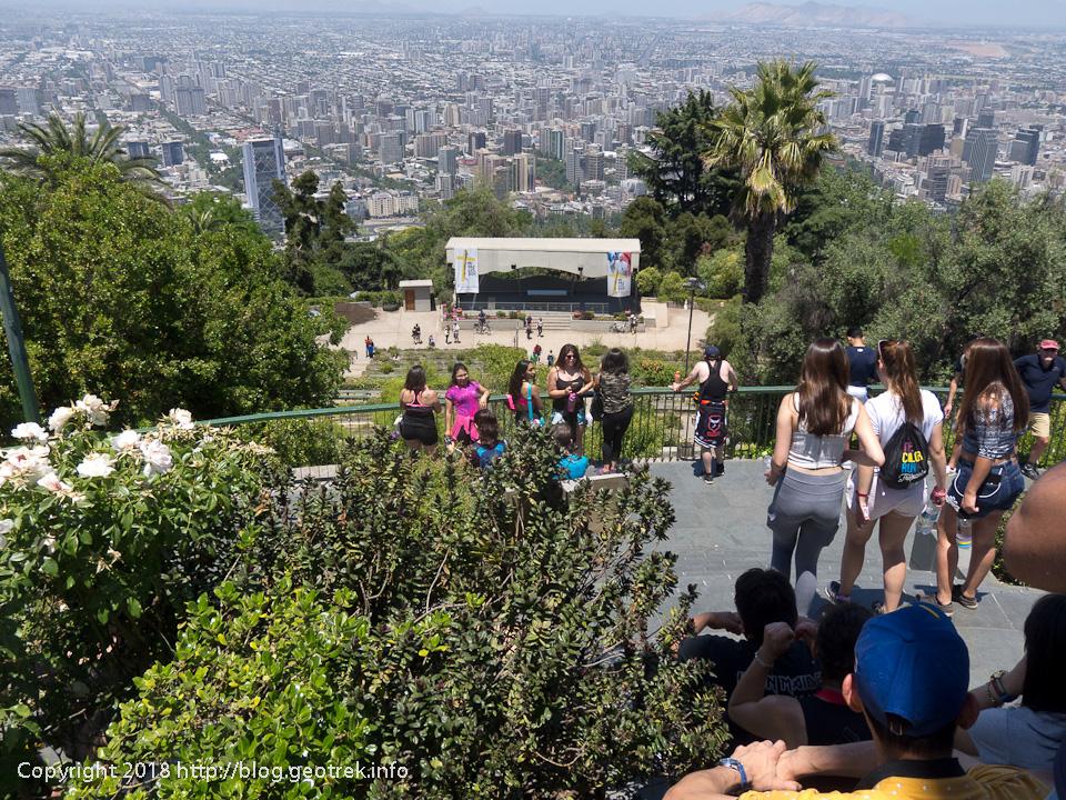 171126 サンクリストバルの丘からサンティアゴ市街の眺め