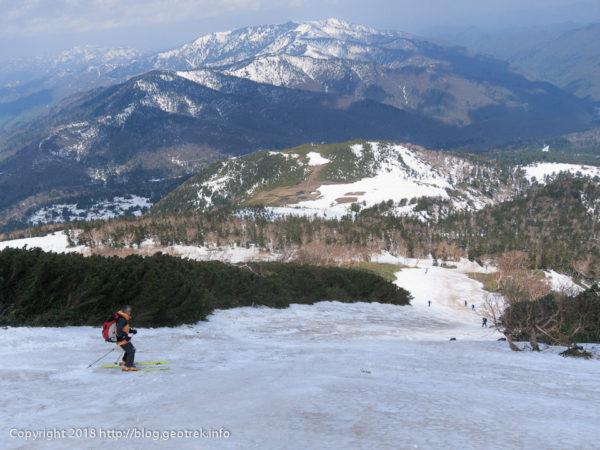 180505 燧岳からドロップイン