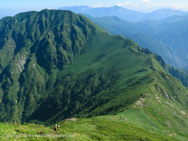 180714 茂倉岳から武能岳