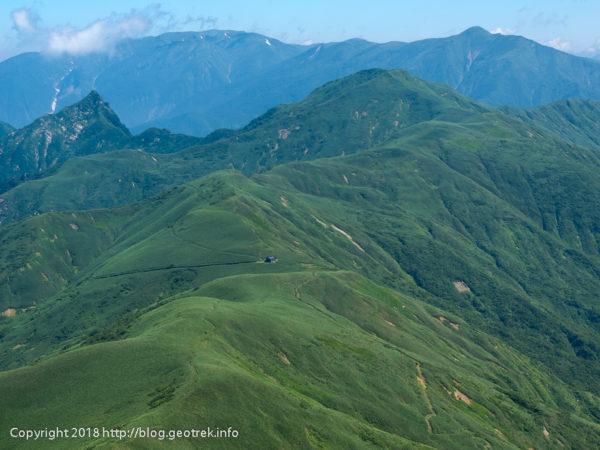 180714 武能岳から蓬峠