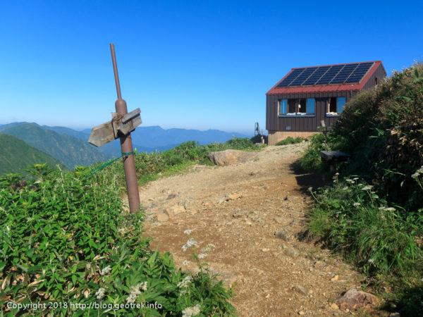 180714 谷川岳肩の小屋