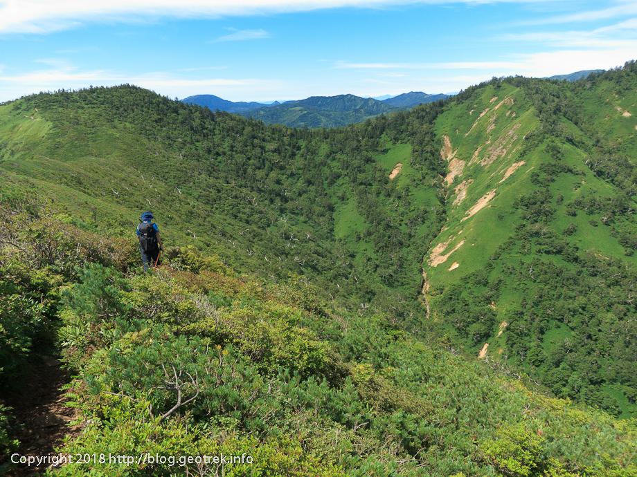 180818 白砂山から下山開始