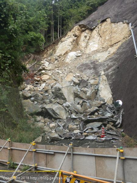 180923 林道扇山線のがけ崩れ